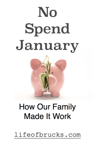 No Spend January Life of Brucks No Spend Month Finances Budgeting