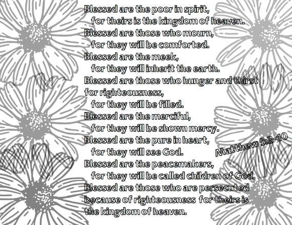 Beatitudes Adult Coloring Page Blessed Life Of Brucks Free Printable Sunflowers Matthew