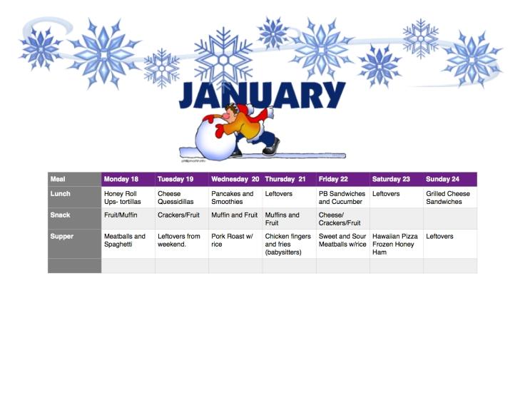 No Spend January Meal Plan Week 4 lifeofbrucks.com