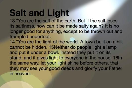 Matthew Salt and Light Jesus