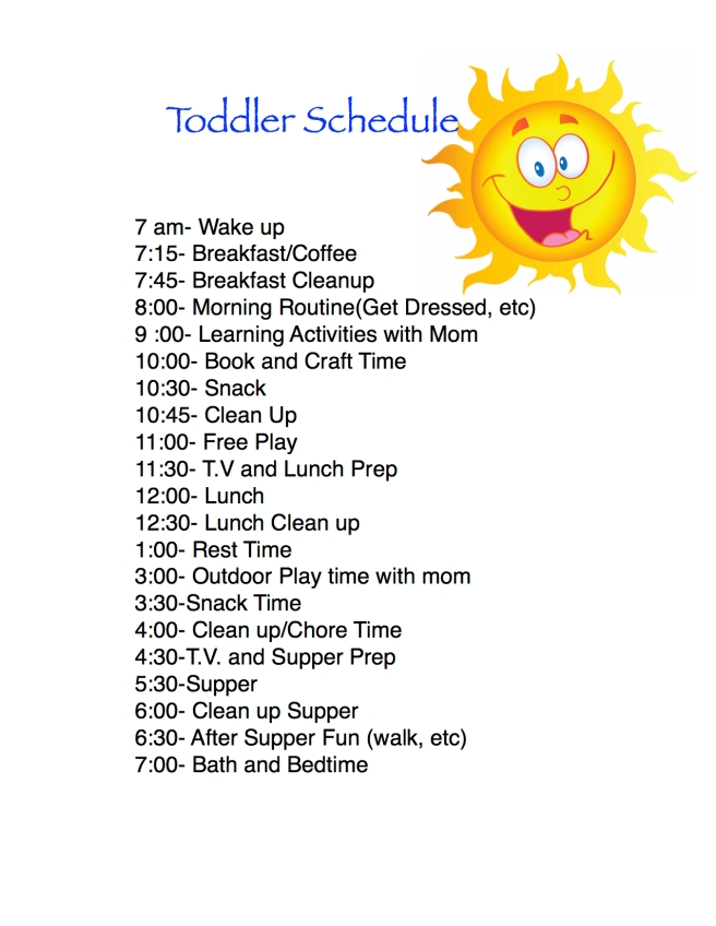 Toddler Routines Life Of Brucks Blog